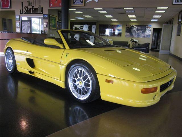 Bargain Ferrari 355 Spyder F1 Yellow