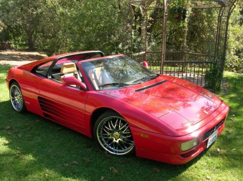 bargain ferrari 348 ts 1990 red