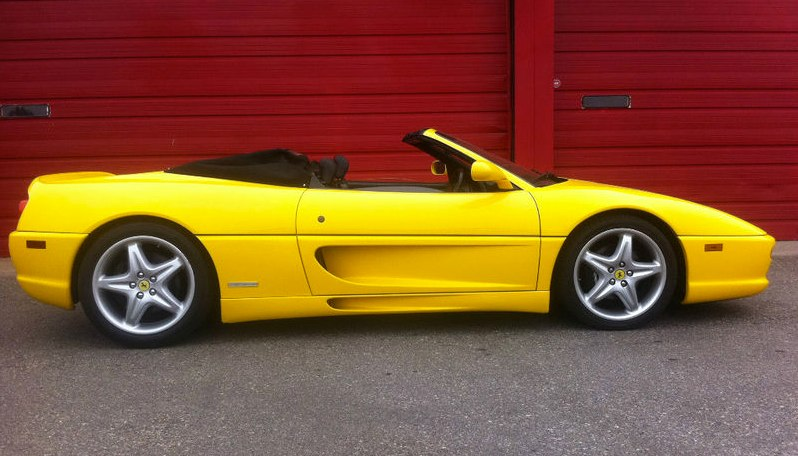 Yellow Ferrari 355 Spider