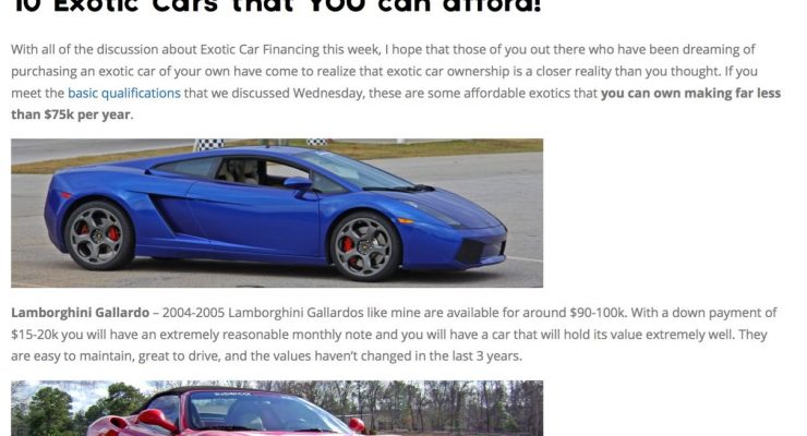 10 Affordable Exotic Cars